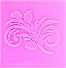 Curled Leaves on Stem Impression Silicone Mold for Fondant, Crafts etc.