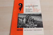 144397) rabewerk beetpflug cultivadora Egge rübenroder folleto 03/1952