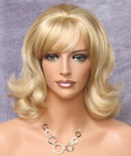 Latest FLIP Style layered bottom curly WIG Blonde mix w. bangs WAOL 24-613