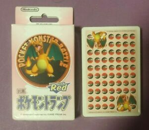 1998 Nintendo Pocket Monster Pokemon Red Charizard Snap Poker Playing Cards Deck