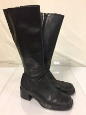 Walking Co Tall Leather Boots Size 38  HEEL DAMAGE LOOK