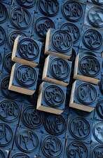 Jugendstil Wäschestempel Monogramm Schablone Textilstempel für Wäschestickerei