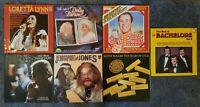 7x 1960's-70's Country Music Vinyl Bundle Dolly Parton, Loretta Lunn, Jim Reeves