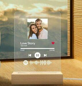Targa Spotify Personalizzata con Luce Led come Lampada Notturna e Traccia Musica