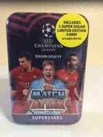 Topps Match Attax Superstars UEFA Champions League Trading Card Game Tin New2018