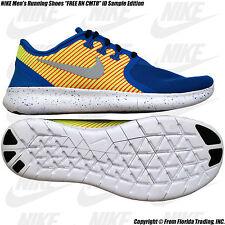 "NIKE Men's Running Shoes ""FREE RN CMTR"" iD Sample(9)Blue/Lt Crimson-GymRed no iD"