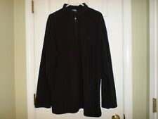 The North Face Men's Quarter Zip Pullover Size Xx Large Black Soft Polyester