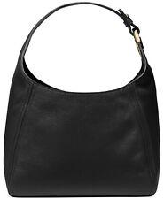 Michael Kors Fulton Black Pebble Leather Large Size Hobo Bag FACTORY SEALED