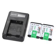 2x NP-BX1 1450mAh Battery Charger Kit For SONY DSC Cybershot Digital Camera F8I9