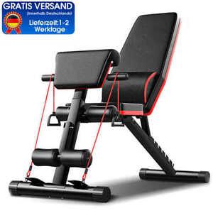 Fitnessclub Hantelbank Trainingsbank verstellbarem Rückenkissen +Zugseil Bench