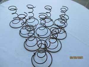 "Lot if 10 Old Vintage Rusty Heavy Bed Springs Tornado Shape 6"" Farm Art Crafts"