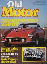 Old Motor magazine 03/1981 featuring Ferrari 250GT Berlinetta, Jaguar S-type