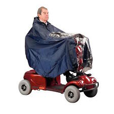 Waterproof Mobility Disability Scooter Clothing Cover Cape Rain Protection