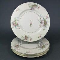 "Theodore Haviland New York Apple Blossom Dinner Plates 10.5"" Lot of 4"