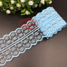 Wholesale!!! 12 Yard Bilateral Handicrafts Embroidered Net Lace Trim Ribbon FL01