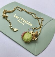 LES NEREIDES 14ct Gold Plated Enamel Deer Necklace. Brand new.