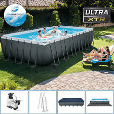 Intex 732 x 366 x 132  Swimming Pool Rechteck Stahlbecken Frame Schwimmbad 26362