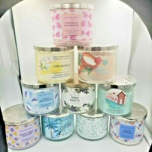 Bath and Body Works  Summer 2021  3 Wick Candles