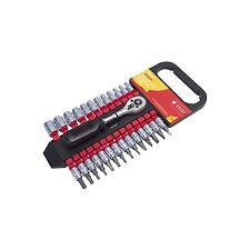 """Amtech 27pc 1/4"""" Socket unidad y Conjunto de Bits Torx Hexagonal Métrico Trinquete Phillips"""