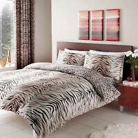 Tiger Skin Print Duvet Cover Quilt Cover Bedding Set Single Double King Animal