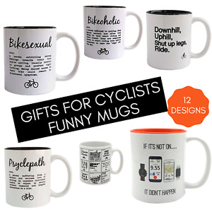 Funny Cycling Gifts. Novelty Cycling Gifts. Gifts For Cyclists. Cycling Mugs.
