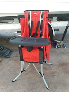 Red Evenflo Baby Go Camping Portable Traveling Foldable Highchair
