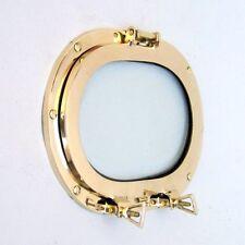 "12"" Brass Porthole Window Oval ~ Porthole Glass ~ Ship Porthole ~ Nautical Decor"