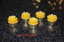 5 Teelichte Bienenwachskerzen Blumen Teelichter 100% Bienenwachs & 5 Hüllen