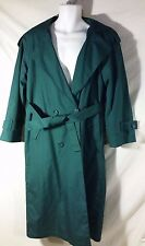 VINTAGE Women's Towne By London Fog Trench Coat w/ zip-out Liner Dark Green-8