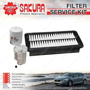 Sakura Oil Air Fuel Filter Service Kit for Mitsubishi Colt RG 1.5L 08/04-01/13