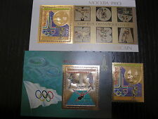 Central Africa- Olympic Games 1980 Mi#622 Bl#65-66 Gold