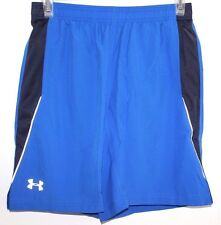 UNDER ARMOUR  HEAT GEAR ACTIVE SHORTS MEN LARGE BLUE FITTED SHORT
