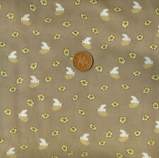 Springs Creative Lotus Light Brown 100% Cotton Fat Quarter