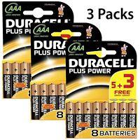 15 + 9 FREE AAA Duracell Plus Power Batteries 1.5V Alkaline Battery LR03 MN2400