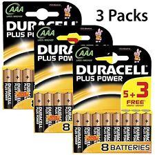 15 + 9 gratis Baterías AAA Duracell Plus Power 1.5V Batería Alcalina LR03 MN2400