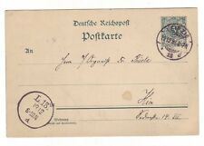 "Beleg Ganzsache 1893 Leipzig Ortskarte ""Hier"""