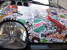30x152cm Crazy Autofolie Sticker bomb folie Geil Tuning Show shine Blasenfrei