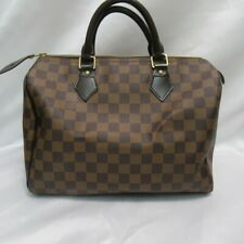 Authentic Louis Vuitton speedy30 Damier Ebene N41364 Genuine Bag(120351)