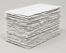 Handmade Paper - 50 sheets - All Sizes - WHITE - Deckle Edge - Acid Free Natural