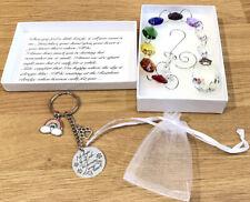 Pet Memorial Loss Paw Sun Catcher & Keyring Rainbow 🌈Bridge Poem Gift Boxed