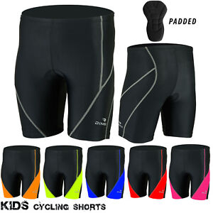 NEW Kids Cycling Padded Shorts Anti-Bac Pad MTB Bicyle Lycra Short Junior Sizes