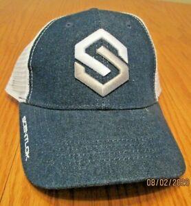 Scent Lok Men's Logowear Hat Cap Denim Blue Hunting Archery Mesh Trucker New