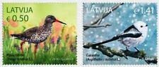 Latvia 2018  RARE Birds - Long Tailed Tit, Redshank MNH
