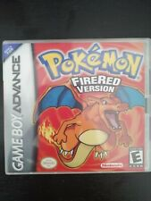 Pokemon Fire Red Nintendo Gameboy Advance Genuine Cart