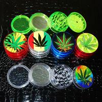 "4 Layer 2"" Leaf Herbal Herb Tobacco Grinder Smoke Spice Crusher Hand Muller"