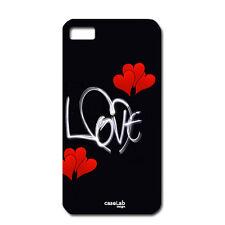 """CUSTODIA COVER CASE LOVE CUORI ROSSI SCRITTA BIANCA  PER iPHONE 6 4.7"""""""