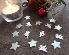 Streudeko Weihnachten Sterne & Engel silber Tischdeko Weihnachtsdeko basteln