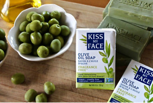 1 KISS MY FACE PURE OLIVE OIL soap bar greek vegan antibacterial gift idea