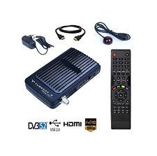 HD-LINE HD-100 Mini Sat Receiver HD-Kanal Astra Türksat Hotbird Sky USB HDMI IR