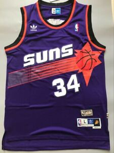 NWT Phoenix Suns Charles Barkley Purple Throwback Swingman Men Jersey Size S-XXL